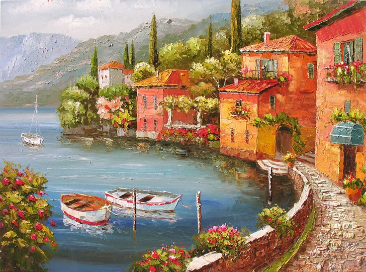 Palette Knife Oil Painting French Masters