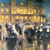 Old fashioned cities and cars by Alan Fearnley