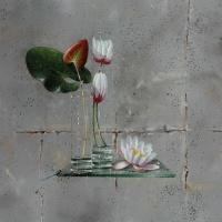 Floral still life by Bernard Delheure