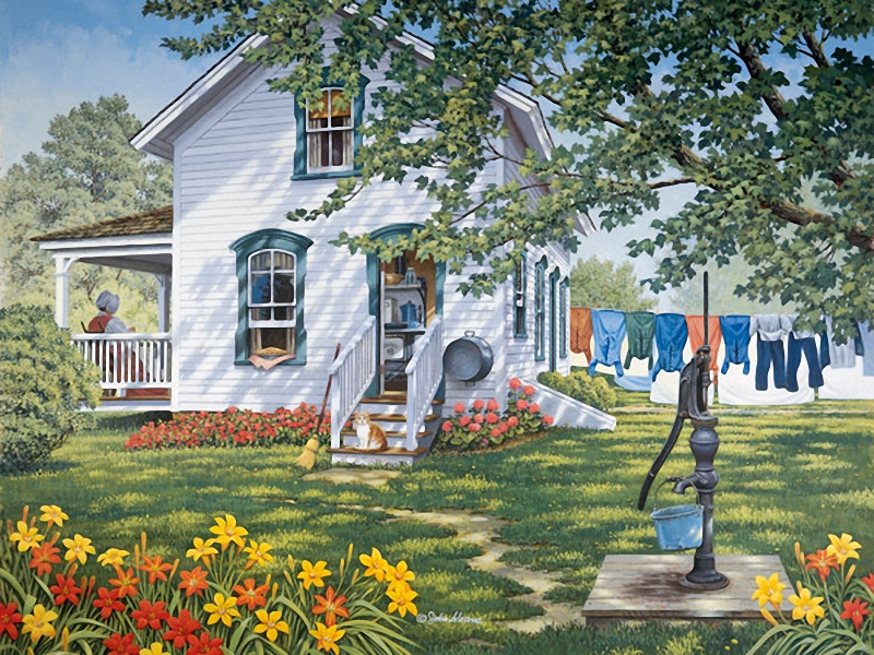 Country life painted by John Sloane | ART BLOG MarkovArt