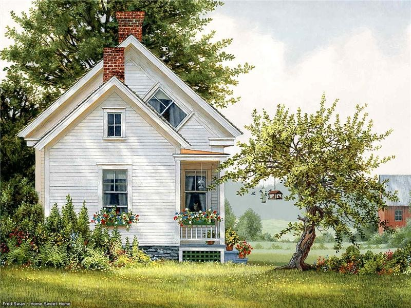 Fred swan art blog markovart for Pictures of small farm houses