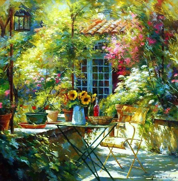 Lanscapes by johan messely art blog markovart - Immagini di giardini fioriti ...